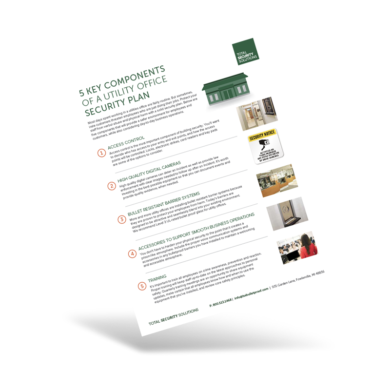 5 components of a Utility Office Security Plan Preview