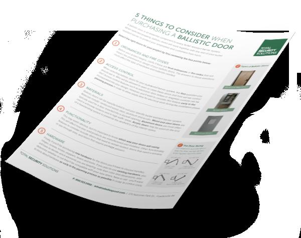 Ballistic door checklist