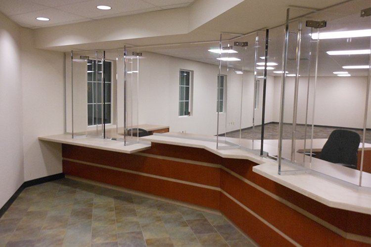Bulletproof barrier for a healthcare facility