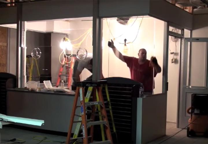 Bulletproof glass installation